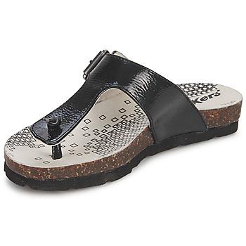 Schuhe Mädchen Zehensandalen Kickers DITIK Schwarz