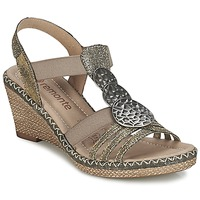 Schuhe Damen Sandalen / Sandaletten Remonte Dorndorf TINACE Gold / Silbern