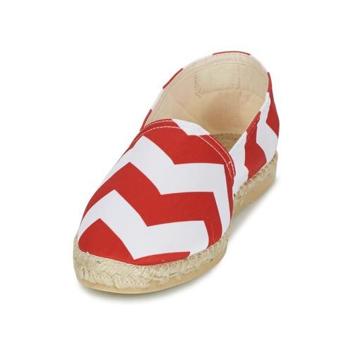 Maiett NOUVELLE VAGUE Rot / Weiss  Schuhe 43,99 Leinen-Pantoletten mit gefloch Damen 43,99 Schuhe 6f3780