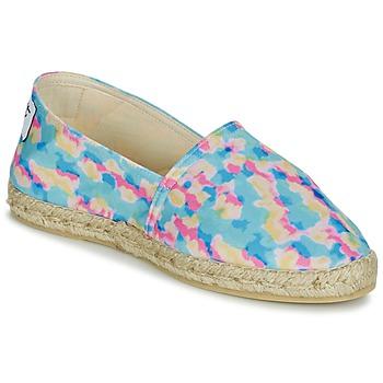Schuhe Damen Leinen-Pantoletten mit gefloch Maiett BATIK Multifarben