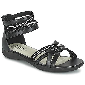 Schuhe Mädchen Sandalen / Sandaletten Wildflower GRIMSTAD Schwarz