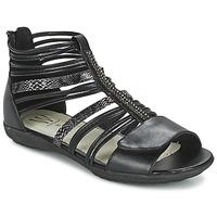 Schuhe Mädchen Sandalen / Sandaletten Wildflower HAMAR Schwarz