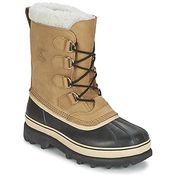 Schuhe Herren Schneestiefel Sorel CARIBOU Beige