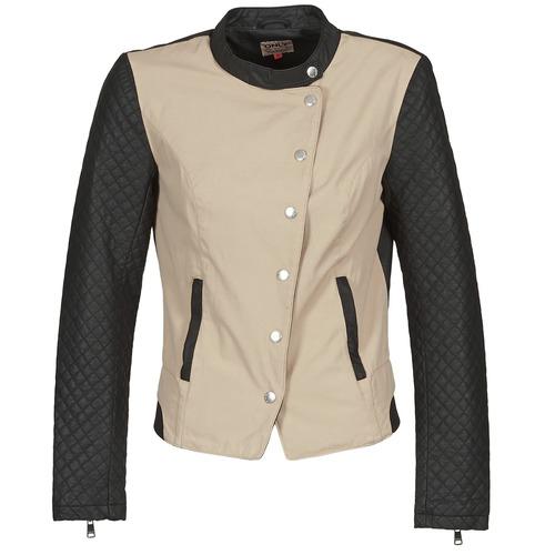 Kleidung Damen Jacken Only LICENS Beige / Schwarz