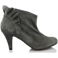 Schuhe Damen Ankle Boots Vienty Botin GRAUES RAD GRAU