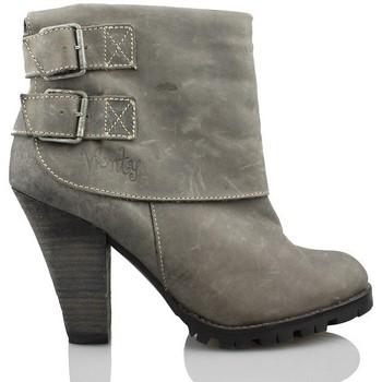Schuhe Damen Low Boots Vienty Beute Frau Schnallen GRAU