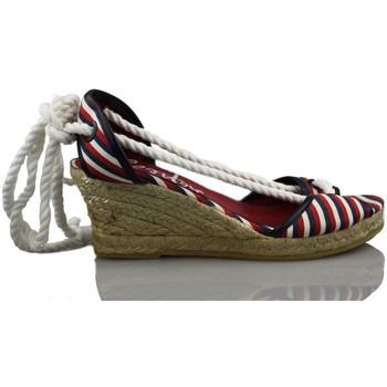 Schuhe Damen Leinen-Pantoletten mit gefloch Vienty Meer Schaufel MARINE