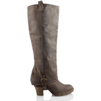 Schuhe Damen Klassische Stiefel Vienty SOLPA CHOCO BRAUN