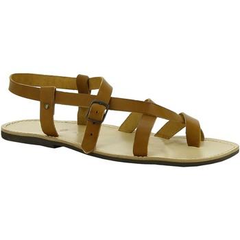 Schuhe Damen Sandalen / Sandaletten Gianluca - L'artigiano Del Cuoio 530 U CUOIO LGT-GOMMA Cuoio