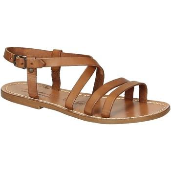 Schuhe Damen Sandalen / Sandaletten Gianluca - L'artigiano Del Cuoio 531 D CUOIO CUOIO Cuoio