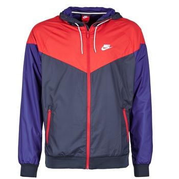 Kleidung Herren Windjacken Nike WINDRUNNER Marine / Rot / Blau