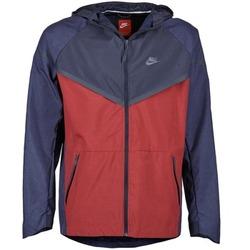 Kleidung Herren Windjacken Nike TECH WINDRUNNER Rot / Marine / Grau