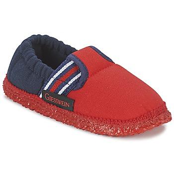 Schuhe Jungen Hausschuhe Giesswein AICHACH Rot / Marine
