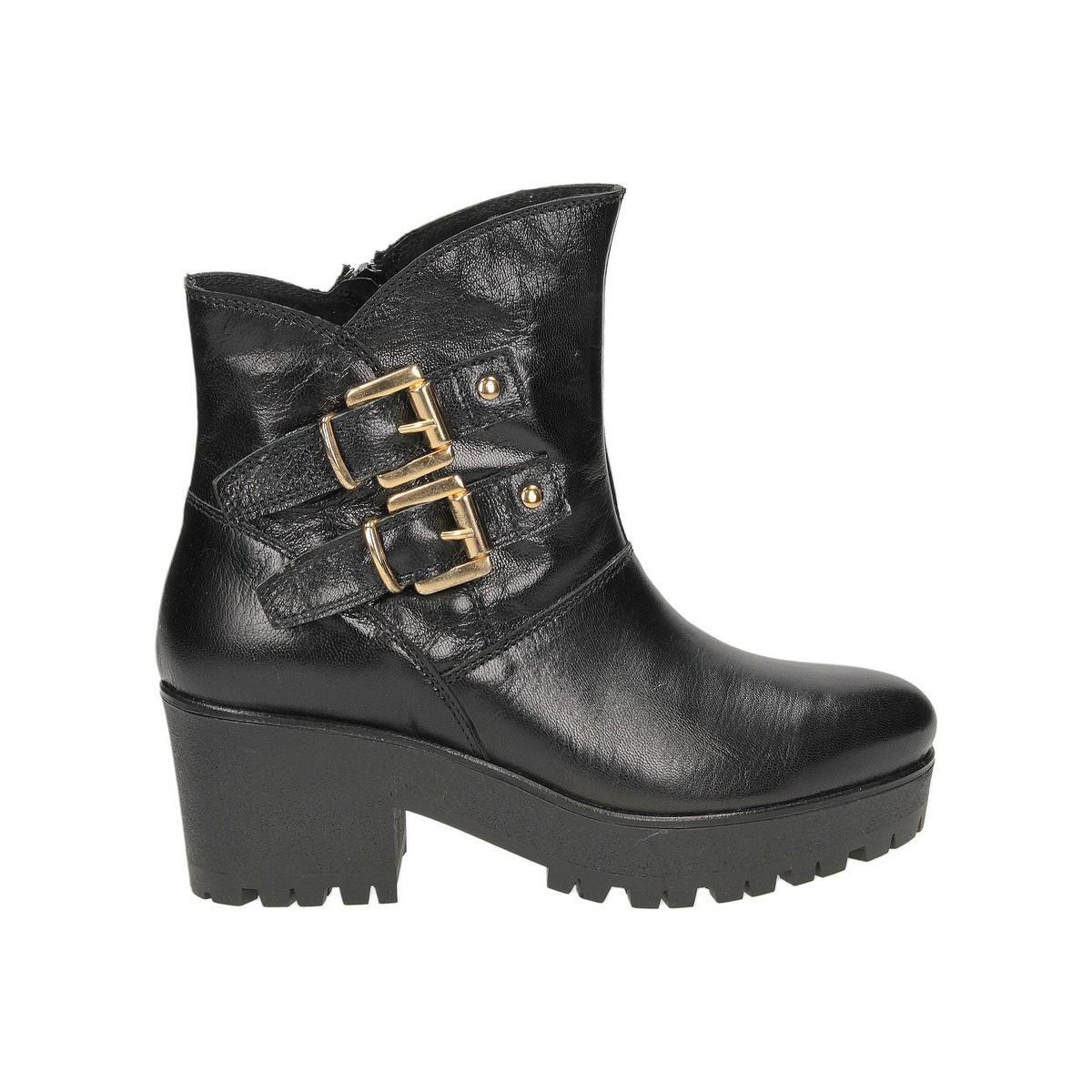 Café Noir CAFENOIR 2 FIBBIE noir - Schuhe Low Boots Damen 93,96 €