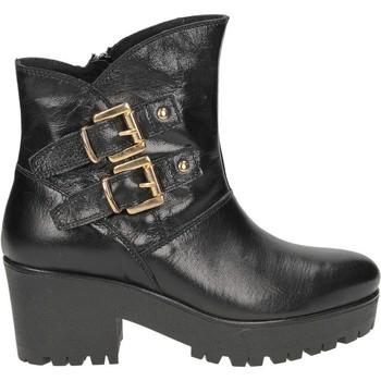 Schuhe Damen Low Boots Café Noir CAFENOIR 2 FIBBIE noir