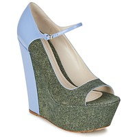 Schuhe Damen Pumps John Galliano S54261 Blau / Grün