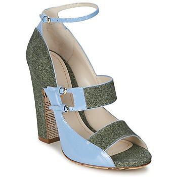 Schuhe Damen Sandalen / Sandaletten John Galliano A54250 Blau / Grün