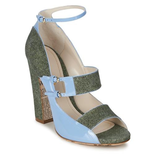 John Galliano A54250 Blau / Grün  Schuhe Sandalen / Sandaletten Damen 406,30