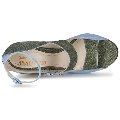 John Galliano A54250 A54250 A54250 Blau / Grün  Schuhe Sandalen / Sandaletten Damen 650 bbf52d