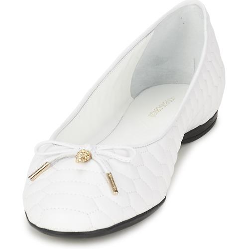 Roberto Cavalli XPS151-PN119 Weiss  Schuhe Ballerinas Damen 335,20