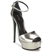 Schuhe Damen Sandalen / Sandaletten Roberto Cavalli XPS260-PZ048 Grau / Silbern