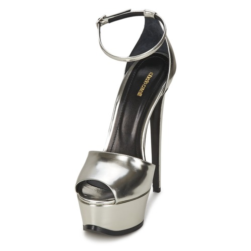 Roberto Cavalli XPS260-PZ048 Grau / Sandalen Silbern  Schuhe Sandalen / / Sandaletten Damen 495,20 4cb48d