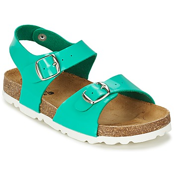 Schuhe Mädchen Sandalen / Sandaletten Citrouille et Compagnie RELUNE Türkis / Lederweiss