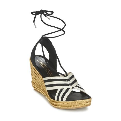 Marc Jacobs DANI Schwarz / Weiss  Schuhe Sandalen / Sandaletten Damen 159,50