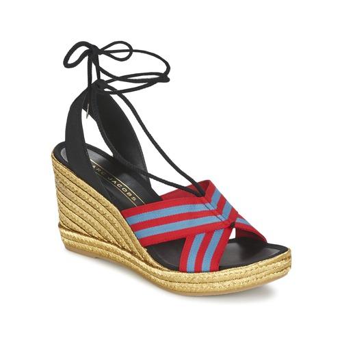 Marc Jacobs DANI Blau / Rot Schuhe Sandalen / Sandaletten Damen 159,50
