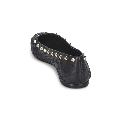 Versace DSL787C Schwarz / Goldfarben Schuhe Ballerinas Damen 244,50