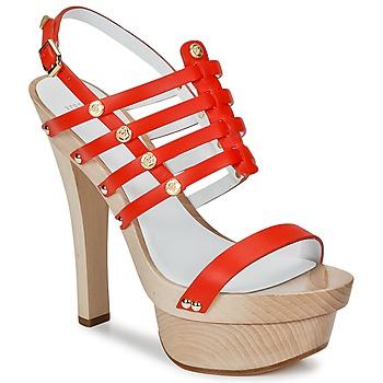 Schuhe Damen Sandalen / Sandaletten Versace DSL943T Rot