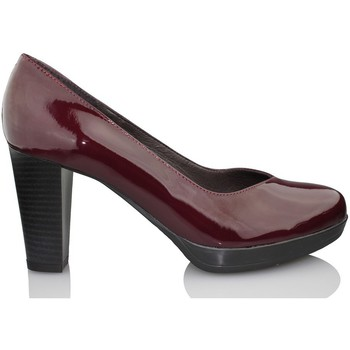 Schuhe Damen Pumps Kroc Lackschuh-Salon BORDEAUX