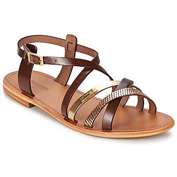 Schuhe Damen Sandalen / Sandaletten Les Tropéziennes par M Belarbi HAPAX Braun / Goldfarben