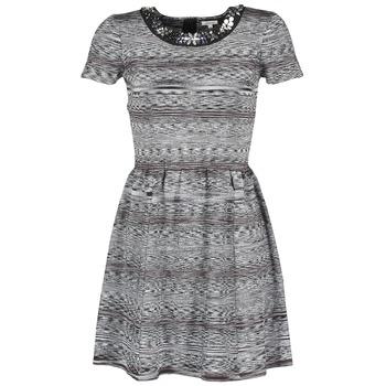 Kleidung Damen Kurze Kleider Manoush BIJOU ROBE Schwarz / Grau