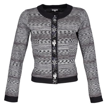 Kleidung Damen Jacken / Blazers Manoush BIJOU VESTE Schwarz / Grau