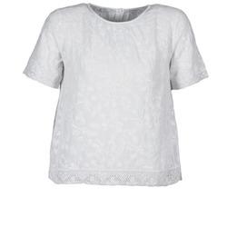 Kleidung Damen T-Shirts Manoush COTONNADE SMOCKEE Weiss