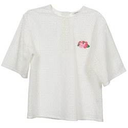 Kleidung Damen Tops / Blusen Manoush FLOWER BADGE Weiss