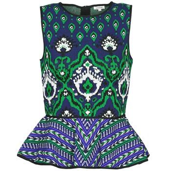 Kleidung Damen Tops Manoush JACQUARD OOTOMAN Blau / Schwarz / Grün