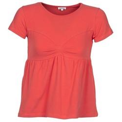 Kleidung Damen T-Shirts Manoush MOLLETON Korallenrot