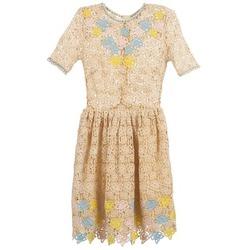 Kleidung Damen Kurze Kleider Manoush ROSES Naturfarben