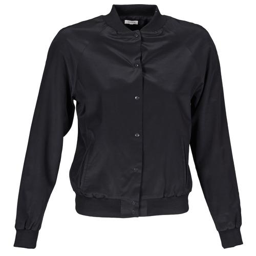 Kleidung Damen Jacken Manoush TEDDY FLEUR SIATIQUE Schwarz