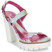Schuhe Damen Sandalen / Sandaletten Desigual VENICE Türkis / Rose