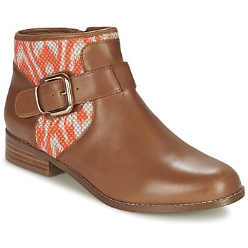 Schuhe Damen Boots Mellow Yellow VABEL Braun / Orange