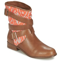 Schuhe Damen Boots Mellow Yellow VABELO Braun / Orange