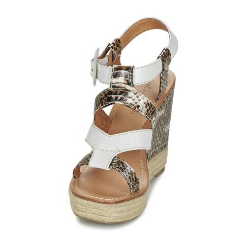 Mellow Yellow  VANAIS Weiss / Braun  Yellow Schuhe Sandalen / Sandaletten Damen 104,30 75beb6
