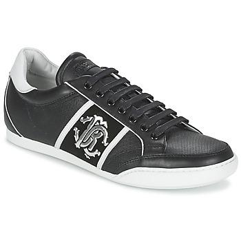 Schuhe Herren Sneaker Low Roberto Cavalli 7779 Schwarz
