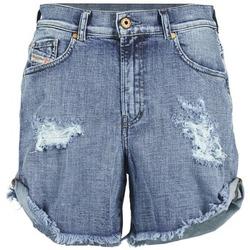 Kleidung Damen Shorts / Bermudas Diesel DE SCOTT Blau