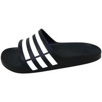 Schuhe Sportliche Sandalen adidas Originals Duramo Slide Noir / Blanc / Noir
