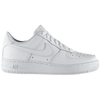 Schuhe Kinder Sneaker Low Nike AIR FORCE LOW GS BLANC