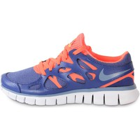 Schuhe Damen Sneaker Nike Free Run 2 Ext Blue Legend Bleu/Orange